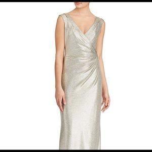 Ralph Lauren Gold Metallic Knit Dress
